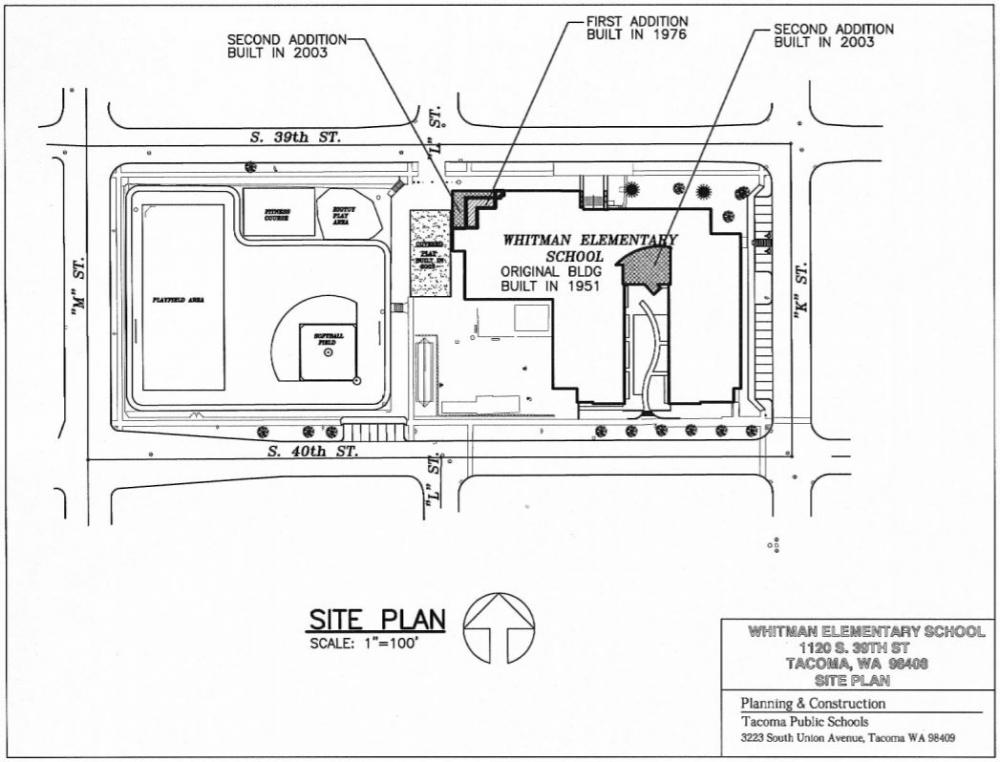 Whitman Elementary Site Plan